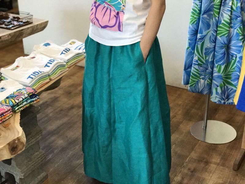 画像3: ロングスカート【グリーン】