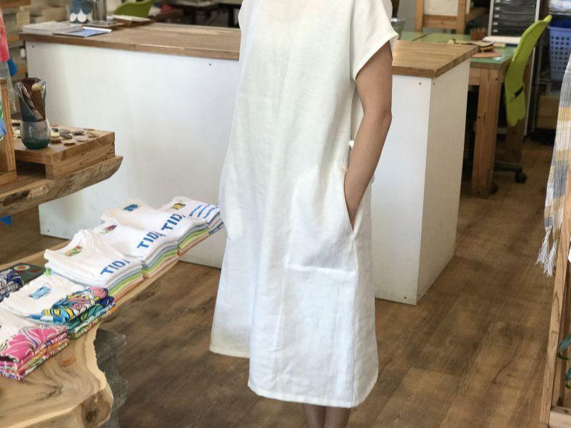 画像3: ポケットワンピース(フレンチスリーブ)【ホワイト】