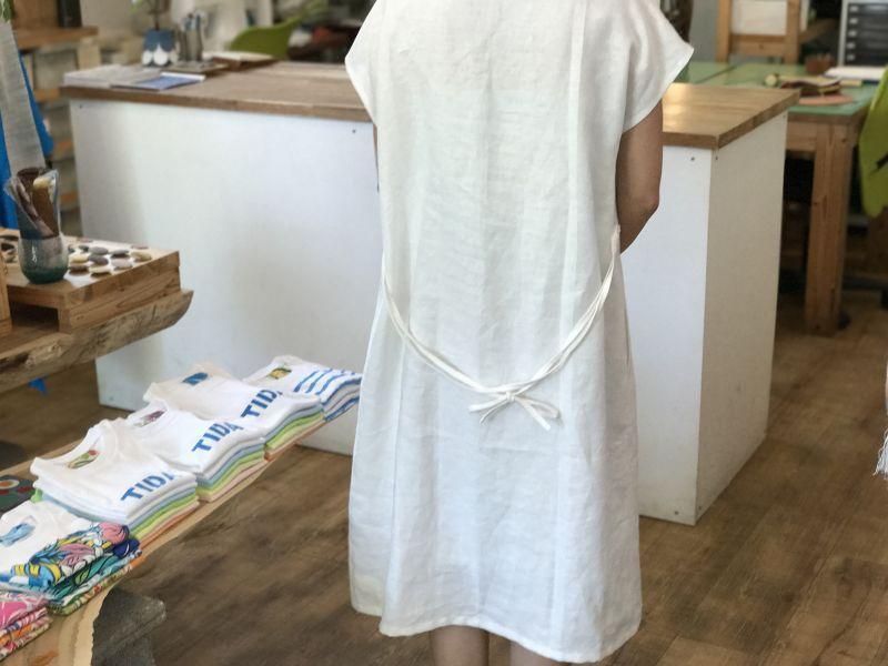 画像5: ポケットワンピース(フレンチスリーブ)【ホワイト】