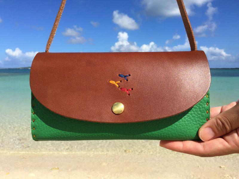 画像1: スマホ財布バッグ(カード入れあり)