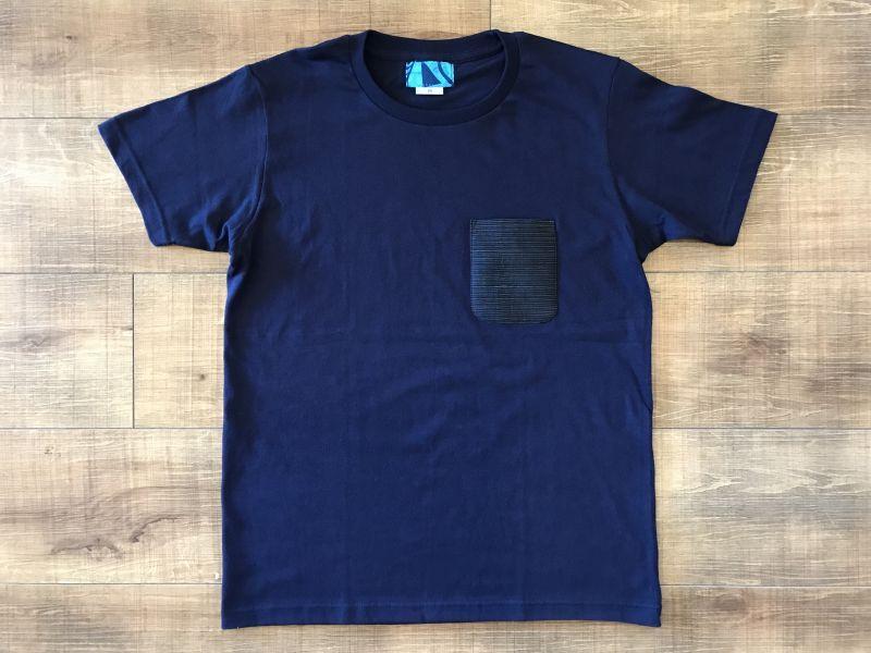 画像1: 宮古上布ポケット - Tシャツ