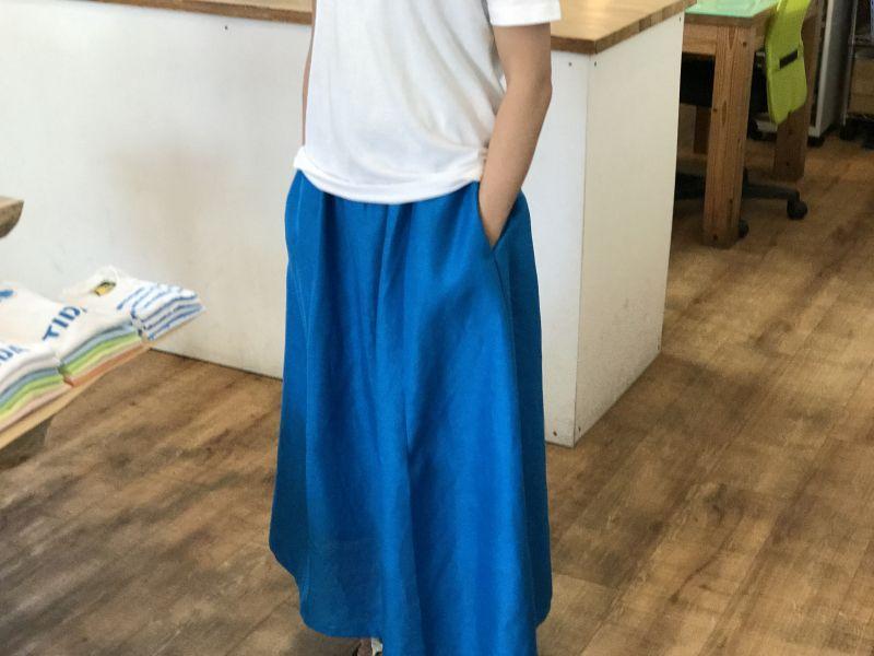 画像3: ロングスカート【マリンブルー】