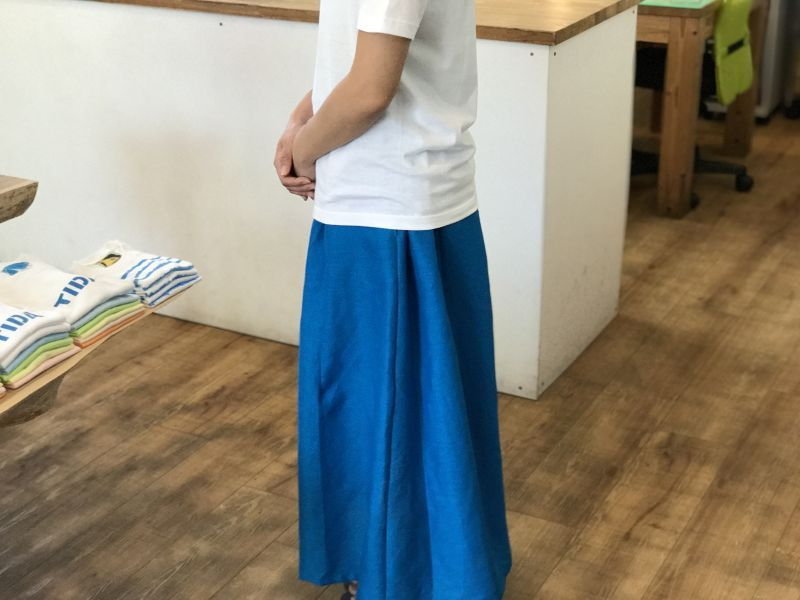 画像4: ロングスカート【マリンブルー】